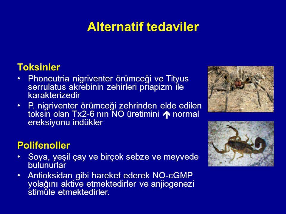 Toksinler Phoneutria nigriventer örümceği ve Tityus serrulatus akrebinin zehirleri priapizm ile karakterizedir P.
