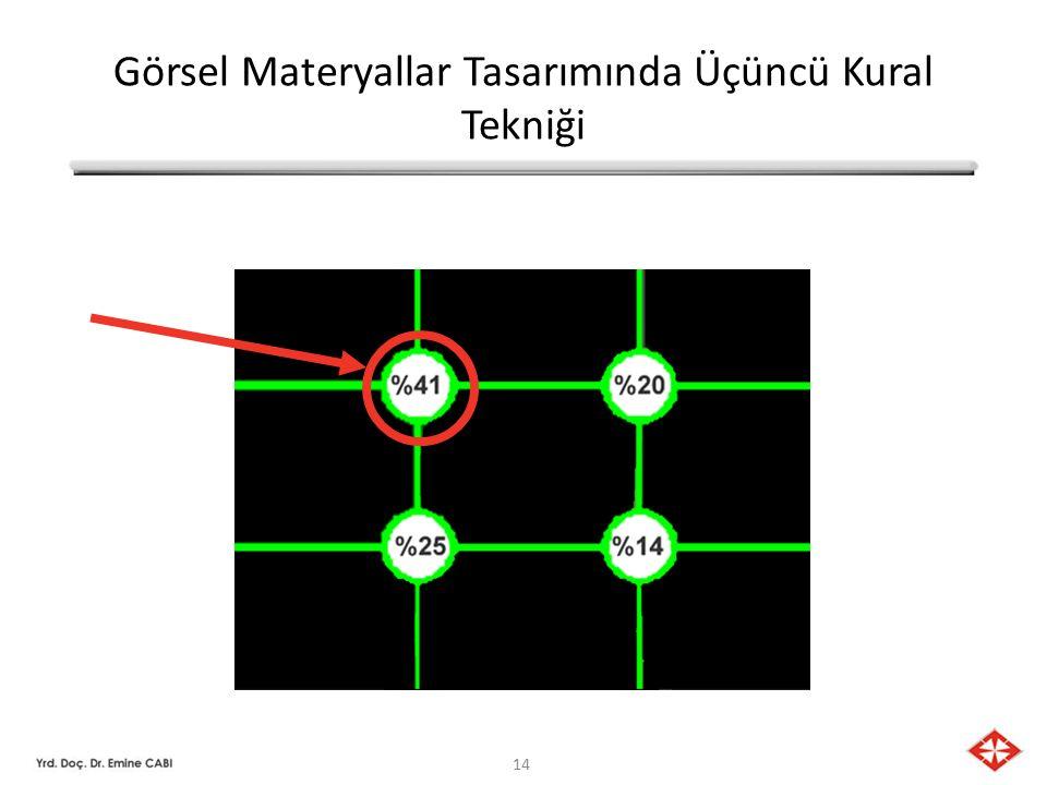 14 Görsel Materyallar Tasarımında Üçüncü Kural Tekniği