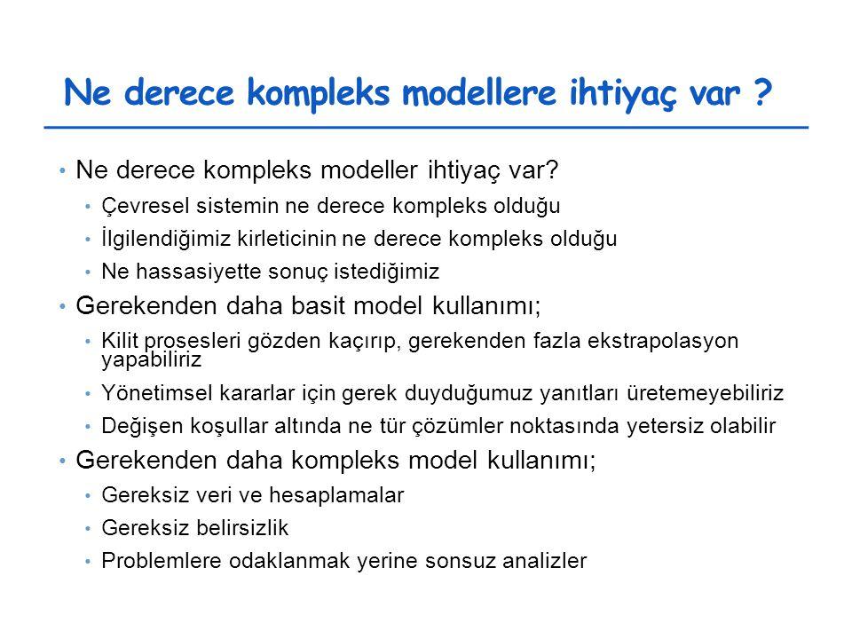 Ne derece kompleks modellere ihtiyaç var . Ne derece kompleks modeller ihtiyaç var.