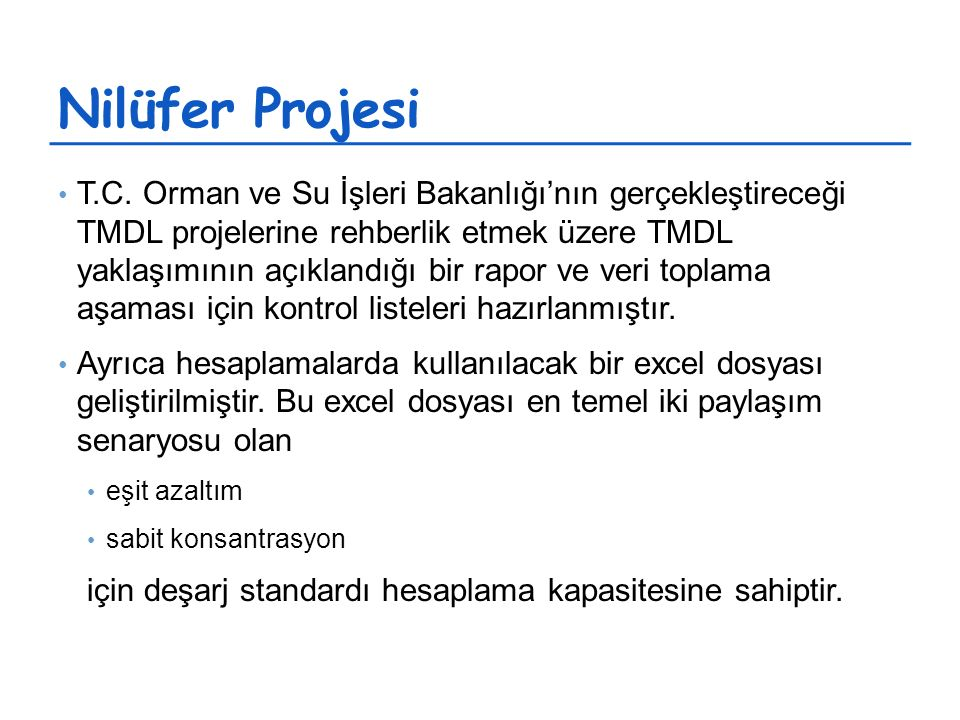Nilüfer Projesi T.C.