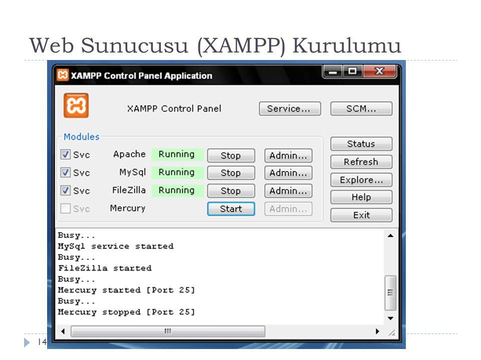 Web Sunucusu (XAMPP) Kurulumu 14