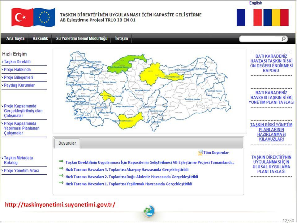 http://taskinyonetimi.suyonetimi.gov.tr/ 12/30