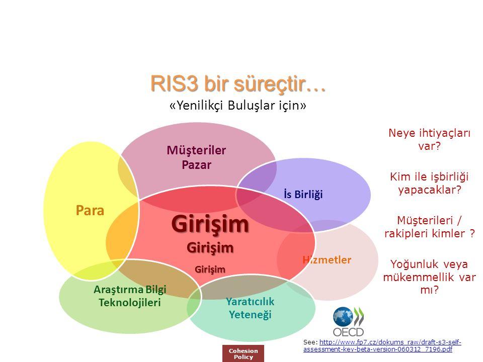 RIS3 bir süreçtir… RIS3 bir süreçtir… «Yenilikçi Buluşlar için» Neye ihtiyaçları var.