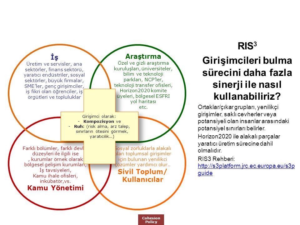 RIS 3 Girişimcileri bulma sürecini daha fazla sinerji ile nasıl kullanabiliriz.