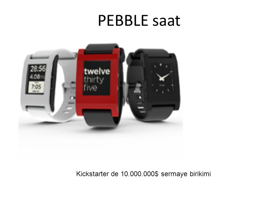PEBBLE saat Kickstarter de 10.000.000$ sermaye birikimi