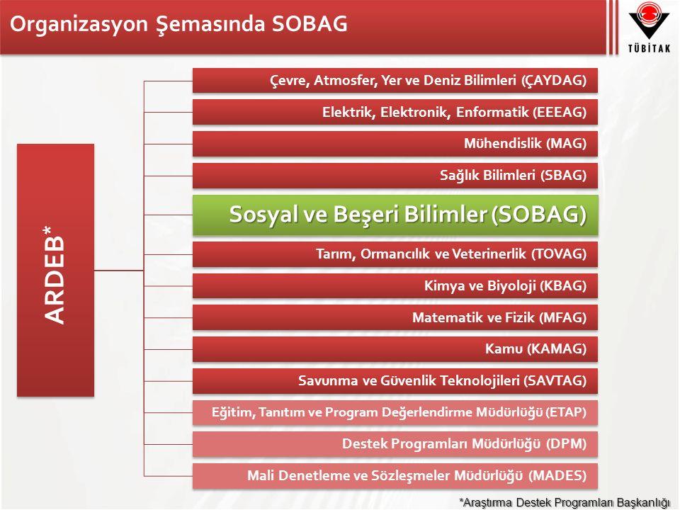 SOBAG İstatistiki Veriler (2005-2014) Desteklenen Alan Sayısı (Sosyal Bilimler) (33) Desteklenen Proje Sayısı (~1500)
