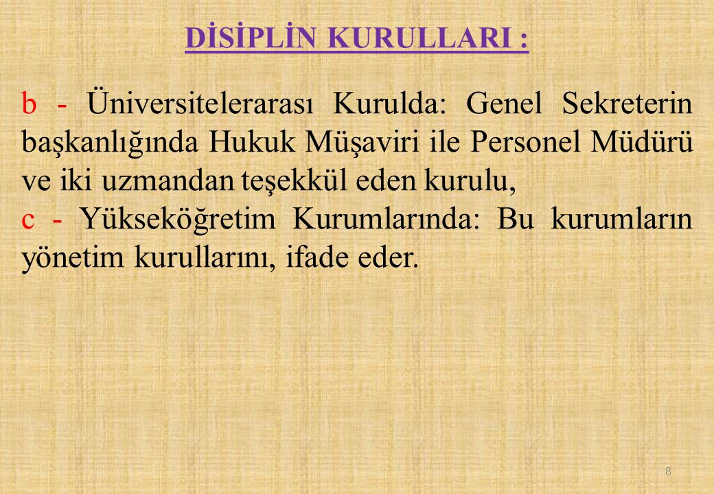 Disiplin Kurulu, kendisine teklif olarak sunulan cezanın kabulüne veya reddine dair bir karar verir.