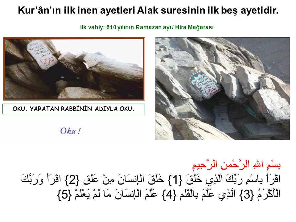 Kur'ân-ı Kerîm, Hz.Peygamber'e 23 senede ve bölümler hâlinde, vahiy yoluyla nâzil olmuştur.