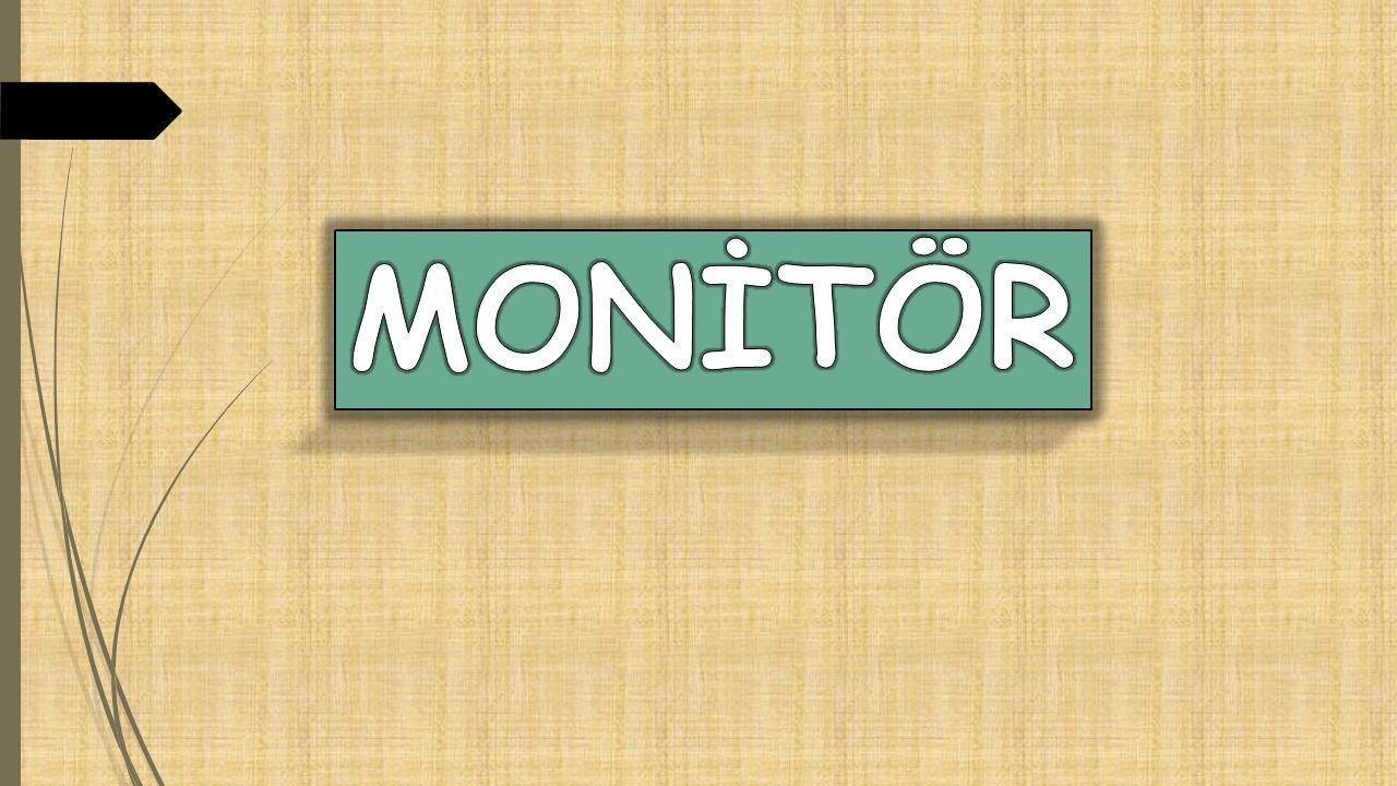 LCD monitörler ; DSTN ve TFT olmak üzere ikiye ayrılmaktadır.