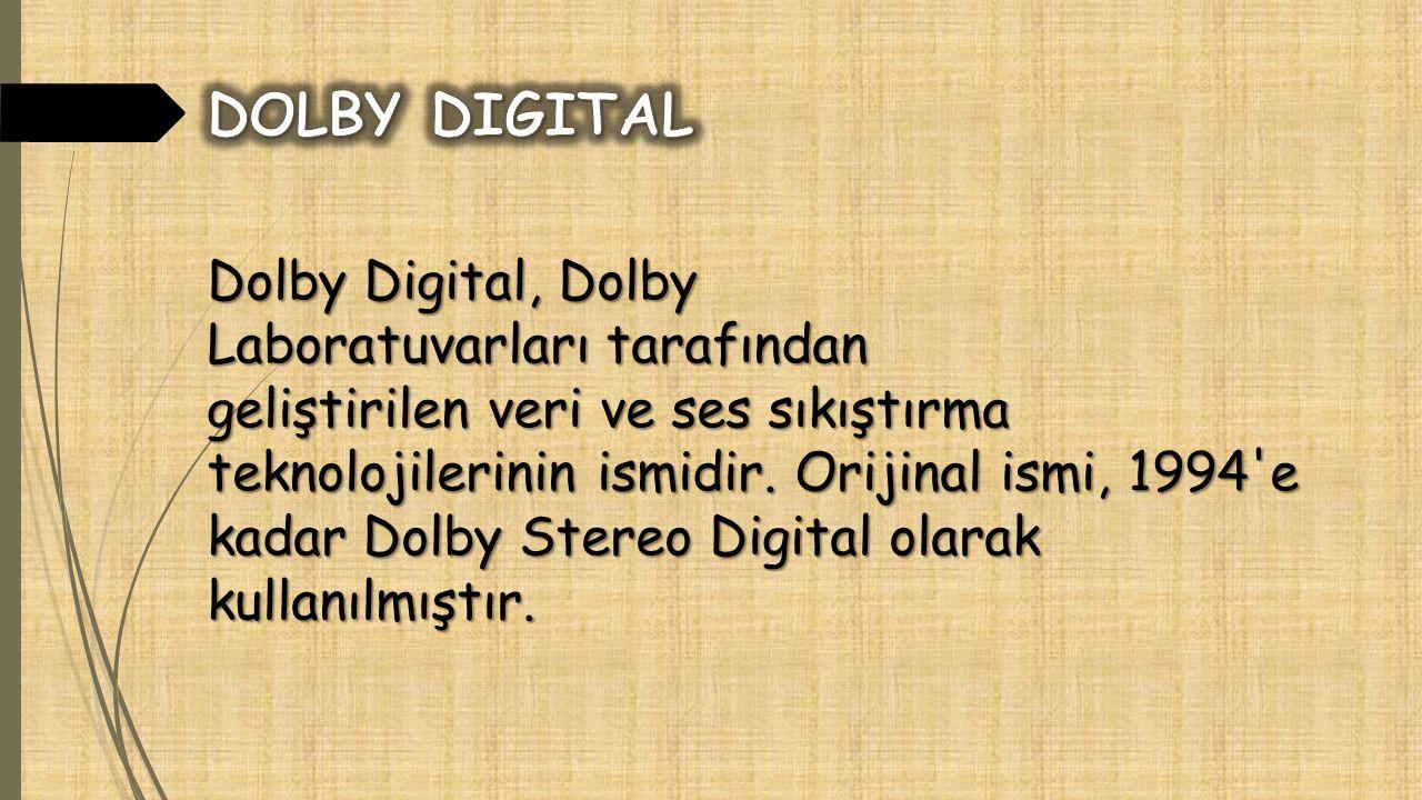 Dolby Digital, Dolby Laboratuvarları tarafından geliştirilen veri ve ses sıkıştırma teknolojilerinin ismidir.