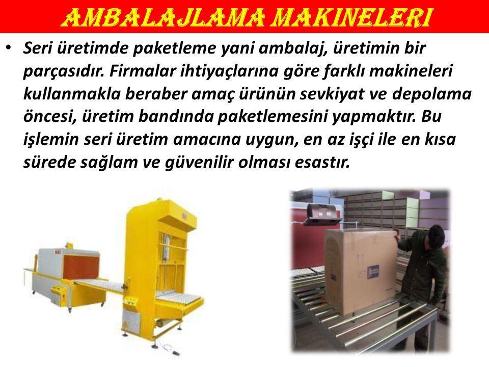 Ambalajlama Makineleri Seri üretimde paketleme yani ambalaj, üretimin bir parçasıdır.