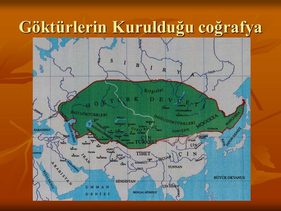 Göktürler (552-745) 38 harfli Göktürk alfabesi 38 harfli Göktürk alfabesi Orhun Anıtları (732-735) Orhun Anıtları (732-735)
