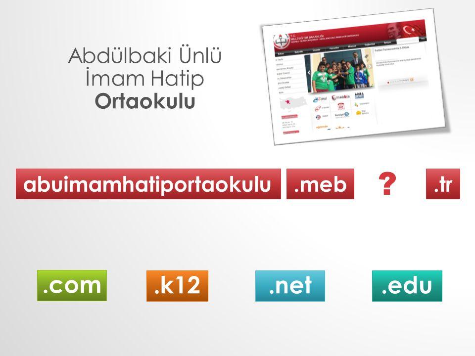 Abdülbaki Ünlü İmam Hatip Ortaokulu abuimamhatiportaokulu.meb.tr.k12.com.net.edu