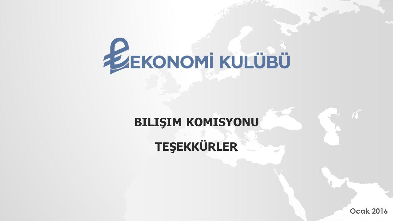 BILIŞIM KOMISYONU TEŞEKKÜRLER Ocak 2016