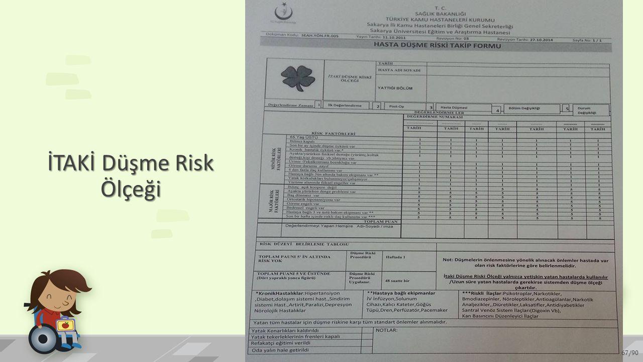 İTAKİ Düşme Risk Ölçeği 67/90