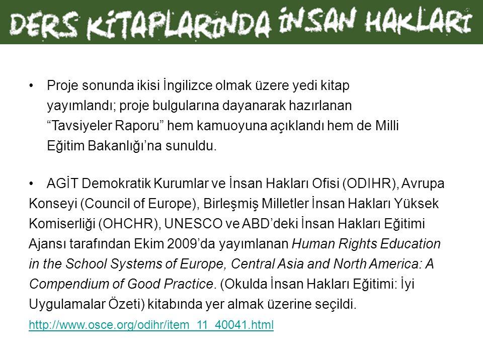Irkçılık ve Hoşgörüsüzlüğe Karşı Avrupa Komisyonu'nun (ECRI) Türkiye hakkındaki 2005 tarihli raporunda, bu olumsuzluktan kurtulmak için bir çıkış yolu önerilmektedir: ECRI, Türk yetkilileri, öğrencilerin çok kültürlü bir toplumda yaşamanın olumlu yönleri konusunda bilinçlendirmek amacıyla ders programlarını ve ders kitaplarını, özellikle de tarih kitaplarını gözden geçirmeye teşvik eder.