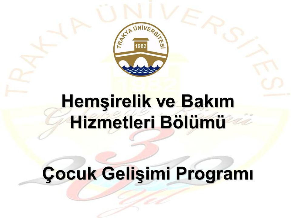 Yüksekokulumuz Çocuk Gelişimi Programı 2005–2006 yılından itibaren eğitim öğretime başlamıştır.