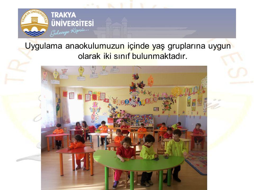 Uygulama anaokulumuzun içinde yaş gruplarına uygun olarak iki sınıf bulunmaktadır.