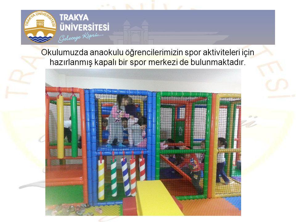 Okulumuzda anaokulu öğrencilerimizin spor aktiviteleri için hazırlanmış kapalı bir spor merkezi de bulunmaktadır.