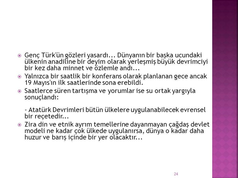 Genç Türk ün gözleri yasardı...