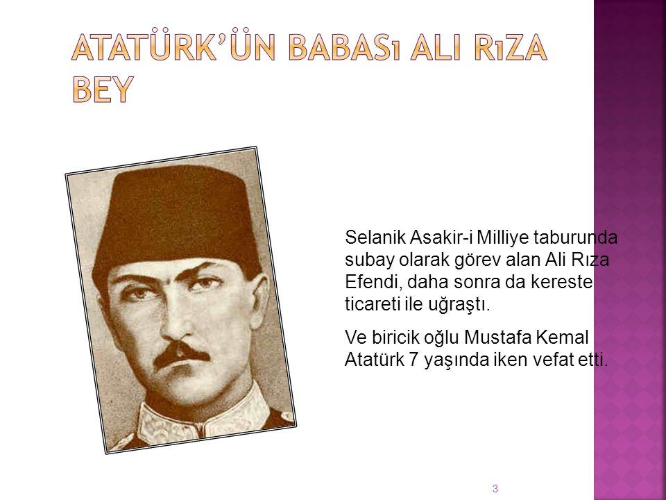 3 Selanik Asakir-i Milliye taburunda subay olarak görev alan Ali Rıza Efendi, daha sonra da kereste ticareti ile uğraştı.