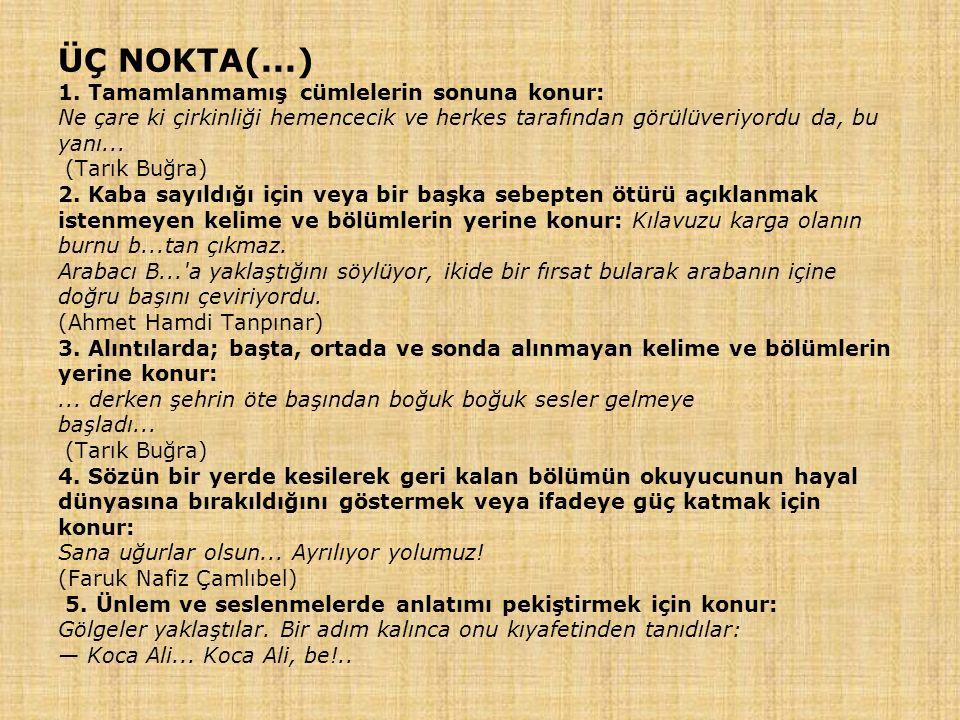 ÜÇ NOKTA(...) 1.