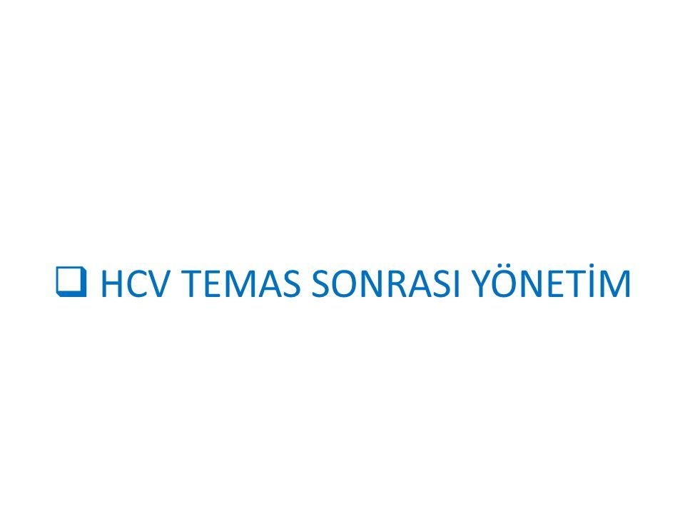  HCV TEMAS SONRASI YÖNETİM
