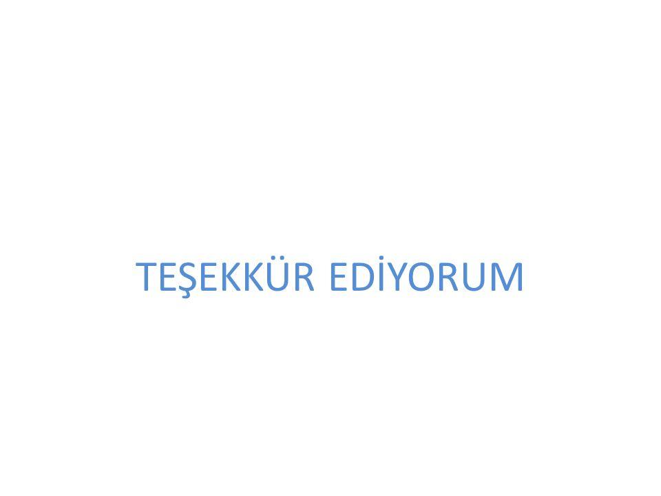 TEŞEKKÜR EDİYORUM