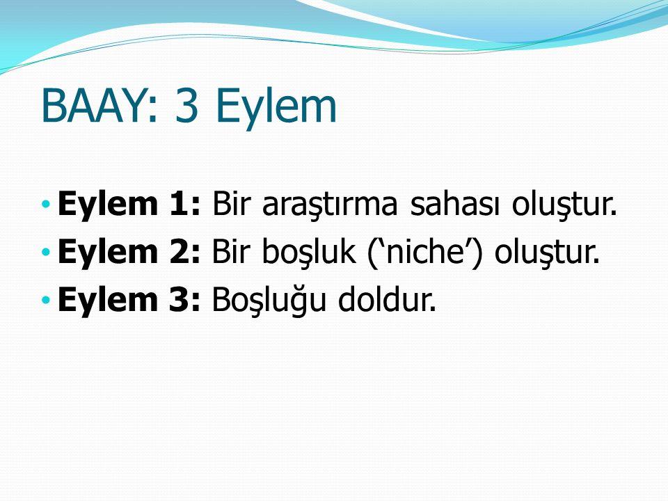 BAAY: 3 Eylem Eylem 1: Bir araştırma sahası oluştur.