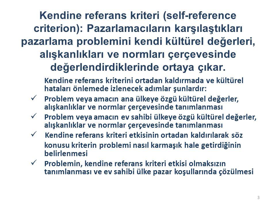 Kendine referans kriterini ortadan kaldırmada ve kültürel hataları önlemede izlenecek adımlar şunlardır: Problem veya amacın ana ülkeye özgü kültürel