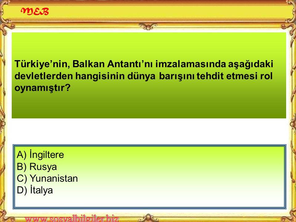 Atatürk, Hatay sorununun çözümü ile uğraşırken konuyu Milletler Cemiyetine götürmüştür. Atatürk'ün izlediği bu politika, Türk dış politikasının; I- Ba