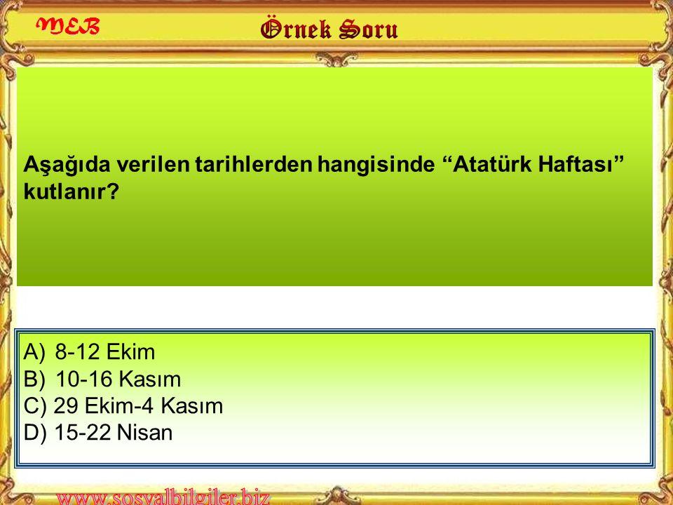 A) İstanbul B) Ankara C) İzmir D) Samsun Atatürk'ün geçici kabri olan Etnografya Müzesi, hangi ilimizdedir? A İ O 2010