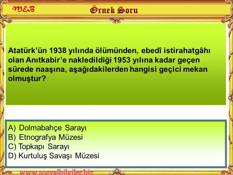 """A) 8-12 Ekim B) 10-16 Kasım C) 29 Ekim-4 Kasım D) 15-22 Nisan Aşağıda verilen tarihlerden hangisinde """"Atatürk Haftası"""" kutlanır? MEB"""