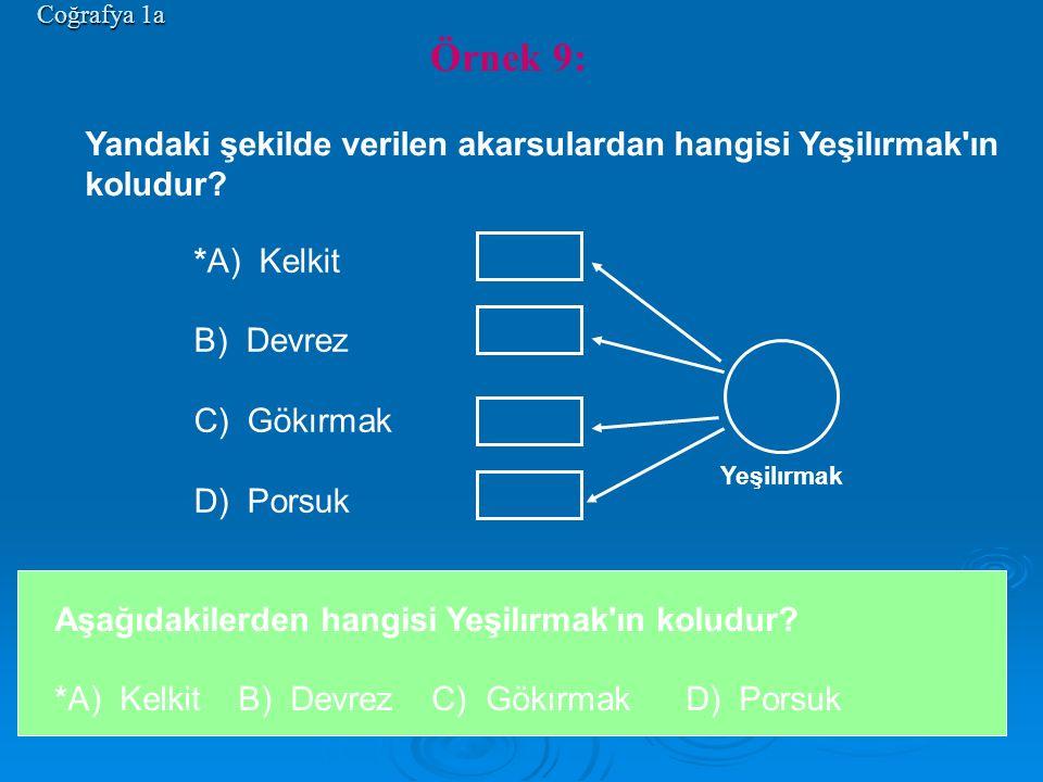 *A) Kelkit B) Devrez C) Gökırmak D) Porsuk Coğrafya 1a Yeşilırmak Aşağıdakilerden hangisi Yeşilırmak'ın koludur? *A) Kelkit B) Devrez C) Gökırmak D) P