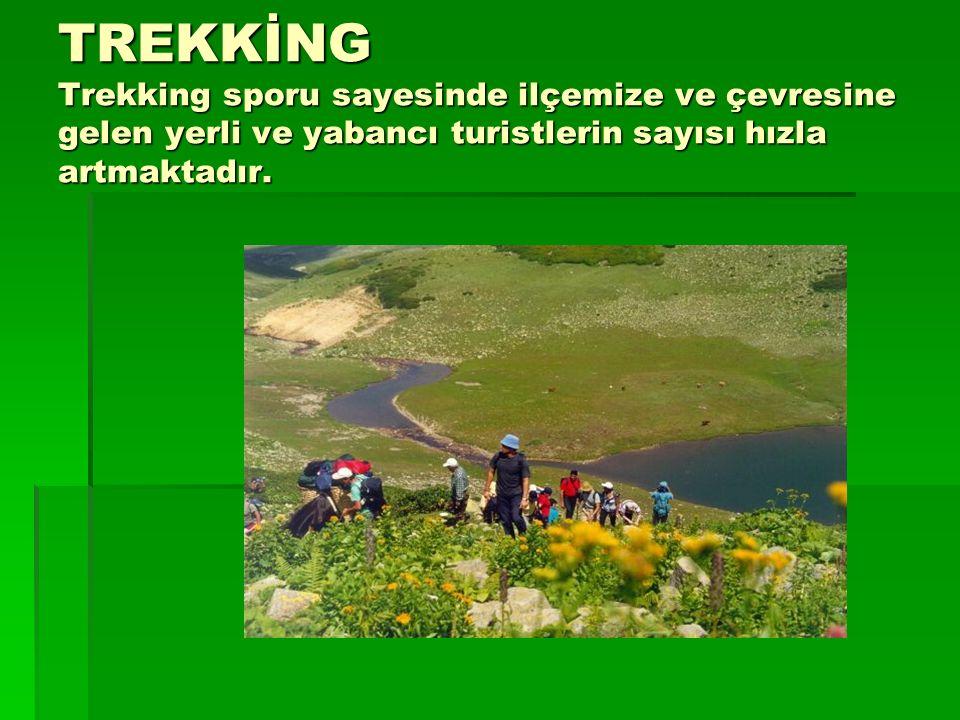 TREKKİNG Trekking sporu sayesinde ilçemize ve çevresine gelen yerli ve yabancı turistlerin sayısı hızla artmaktadır.