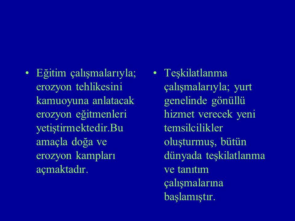 Tema Vakfının Yaptığı Çalışmalar Tanıtım çalışmalarıyla;Türkiye 'deki erozyon ve çölleşme gerçeğini çeşitli yollarla her kesime anlatıp kamuoyu desteği sağlamak.