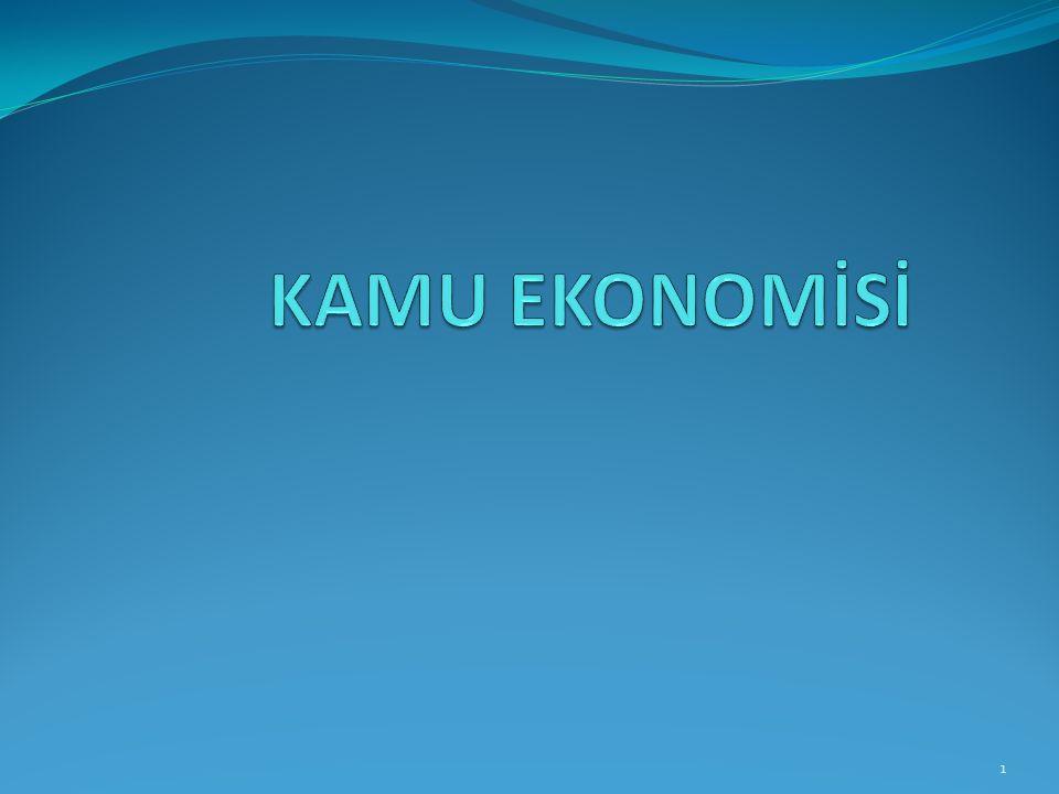 Giriş Kamu ekonomisi disiplini diğer sosyal bilmlerde olduğu gibi, açıklanmak istenen olgular bir teoriye dayandırılır.