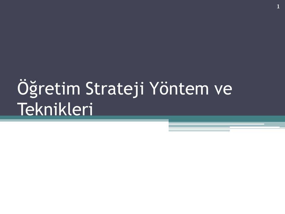 Öğretim Strateji Yöntem ve Teknikleri 1