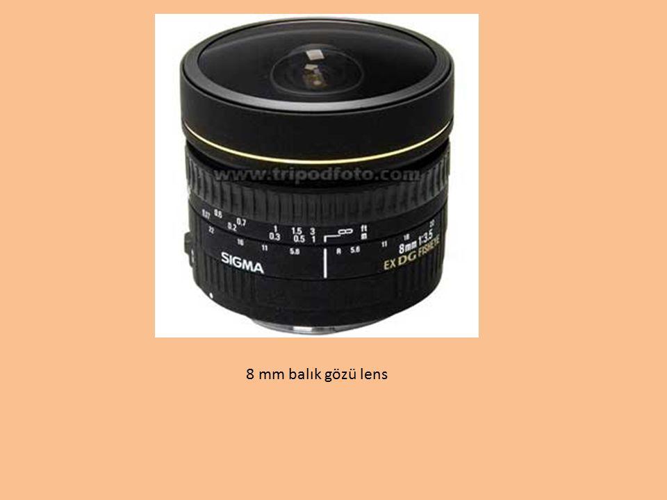 8 mm balık gözü lens