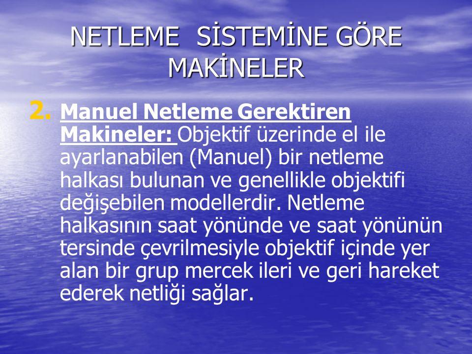 NETLEME SİSTEMİNE GÖRE MAKİNELER 2. 2.