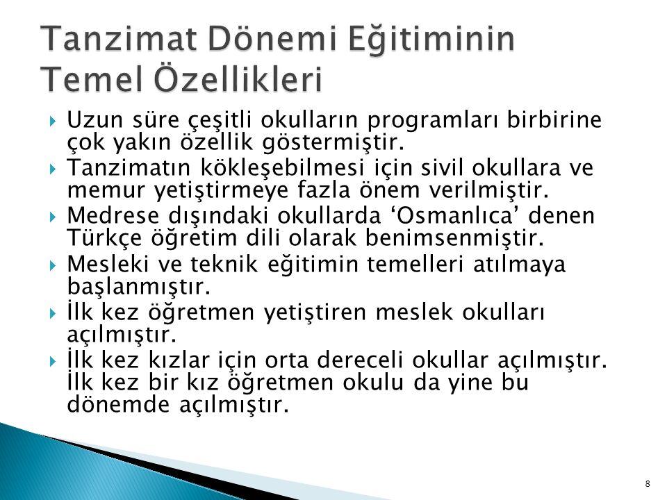  Sultaniyeler:  Bu terim Galatasaray'da gerçek anlamıyla kurulan ilk Liseye verilen Mekteb-i Sultani adı ile ortaya çıkmıştır.