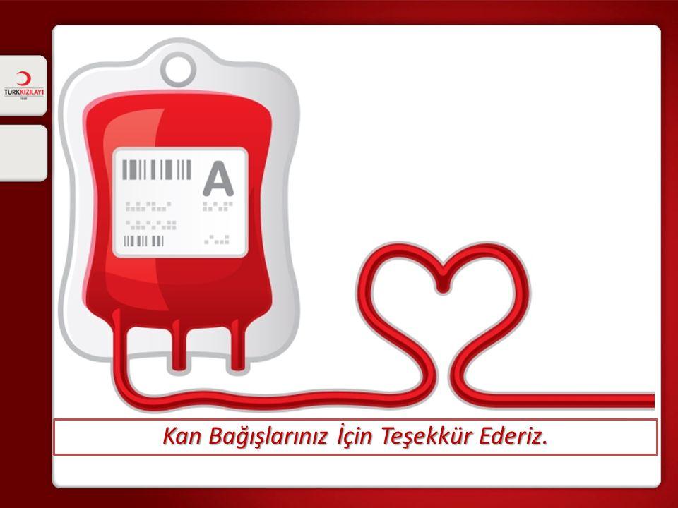 Kan Bağışlarınız İçin Teşekkür Ederiz.