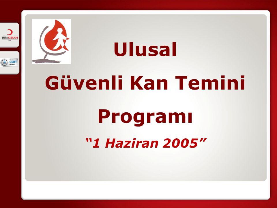 Ulusal Güvenli Kan Temini Programı 1 Haziran 2005