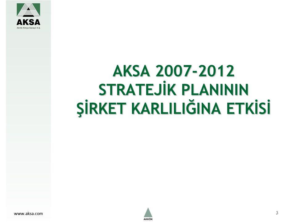 AKSA 2007-2012 STRATEJİK PLANININ ŞİRKET KARLILIĞINA ETKİSİ 3