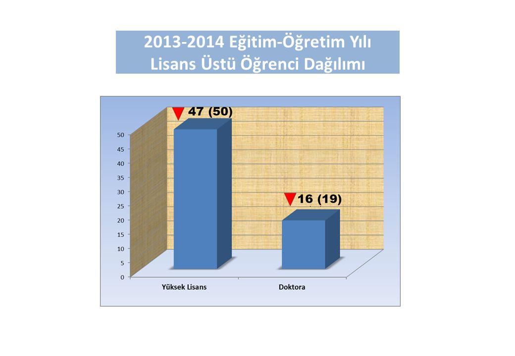 2013-2014 Eğitim-Öğretim Yılı Lisans Üstü Öğrenci Dağılımı