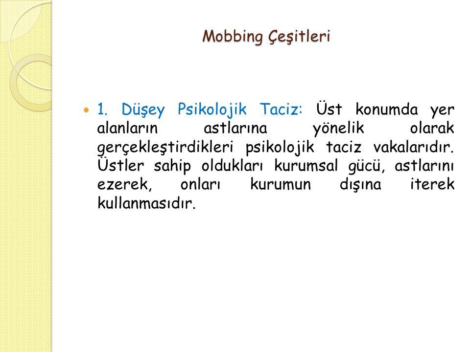 Mobbing Çeşitleri 1.
