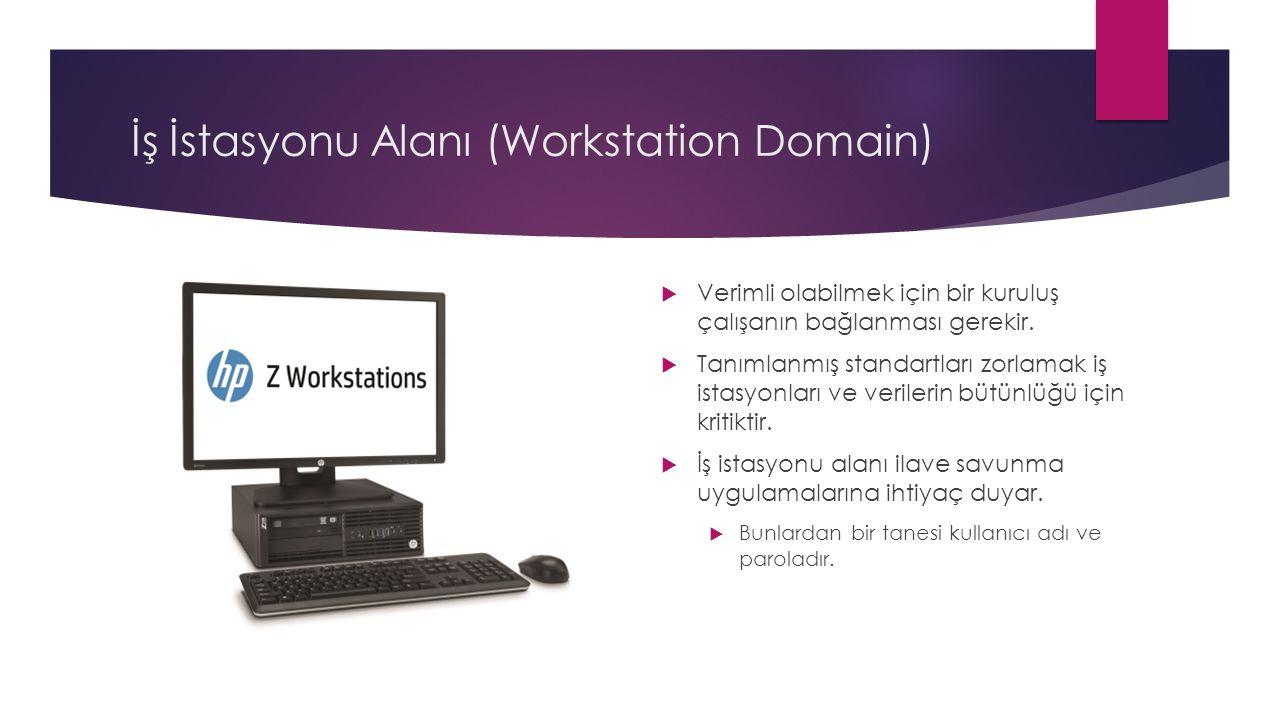 İş İstasyonu Alanı (Workstation Domain)  Verimli olabilmek için bir kuruluş çalışanın bağlanması gerekir.  Tanımlanmış standartları zorlamak iş ista