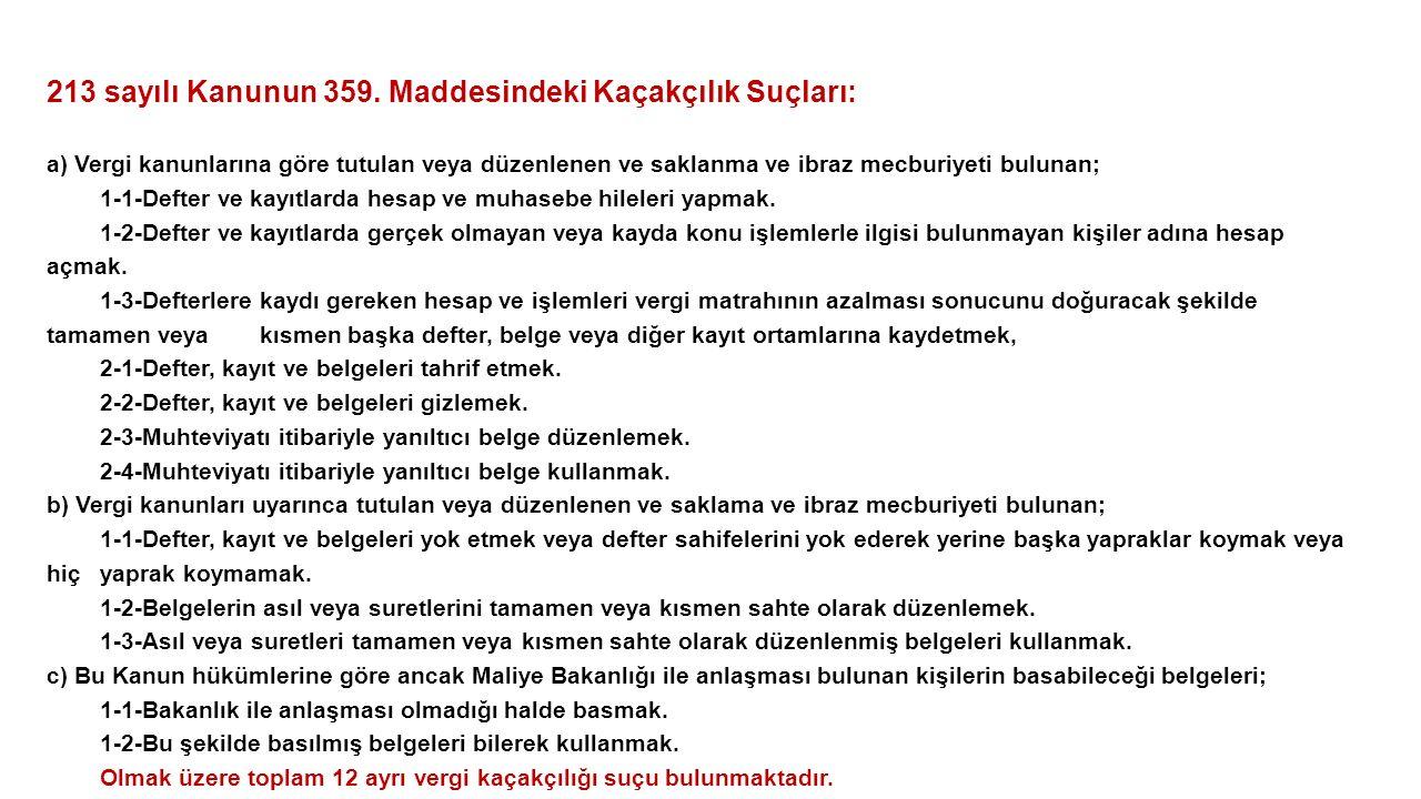 213 sayılı Kanunun 359.