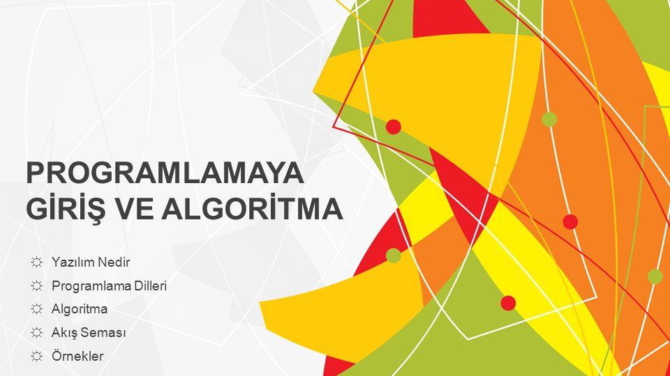 Örnek Algoritma Şimdi basit bir problemin çözümünü gösteren bir algoritma hazırlayalım.
