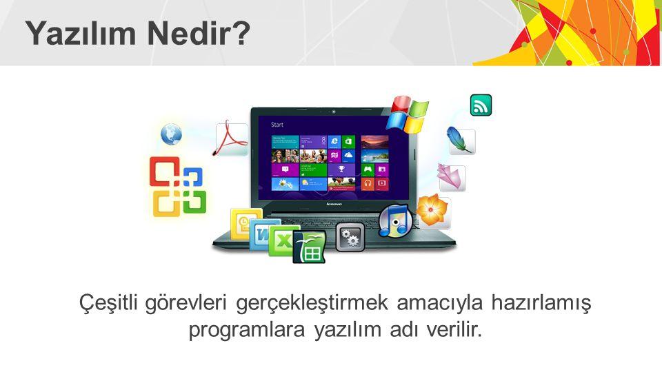 Yazılımlar… Her yazılım bir problemi çözmek amacıyla geliştirilmiştir.